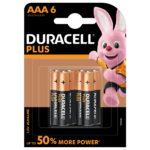 Duracell Plus Alkaline AAA 1.5V batteries 6-piece pack