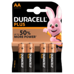Duracell Type Plus 1.5V AA Batteries in 4 piece pack