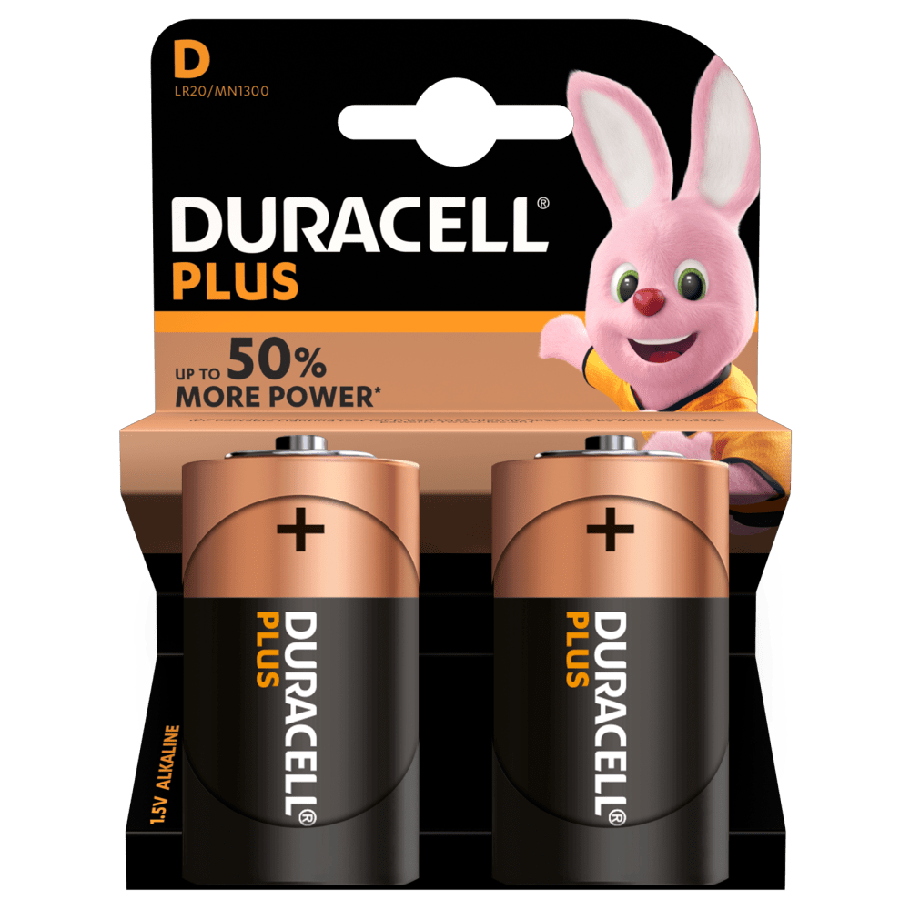 Duracell Ultra D batteries 1.5V in a 2 piece pack