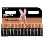 Duracell Plus Alkaline AA Batteries in 12 piece pack