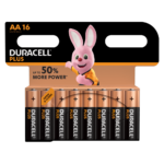 Duracell Plus Alkaline AA Batteries in 16 piece pack