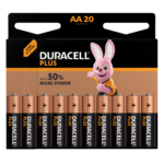 Duracell Plus Alkaline AA Batteries 20 pieces pack