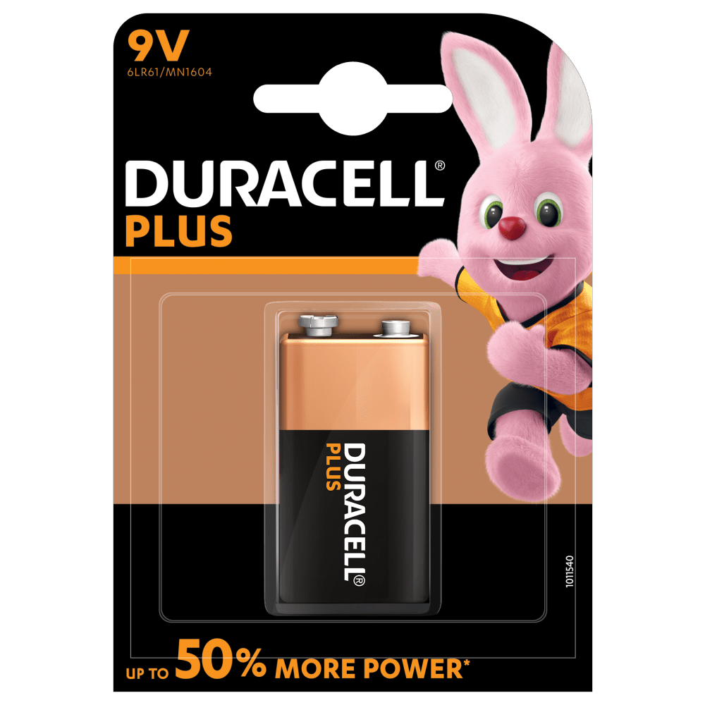 Bunny introducing Alkaline Plus Type 9V battery
