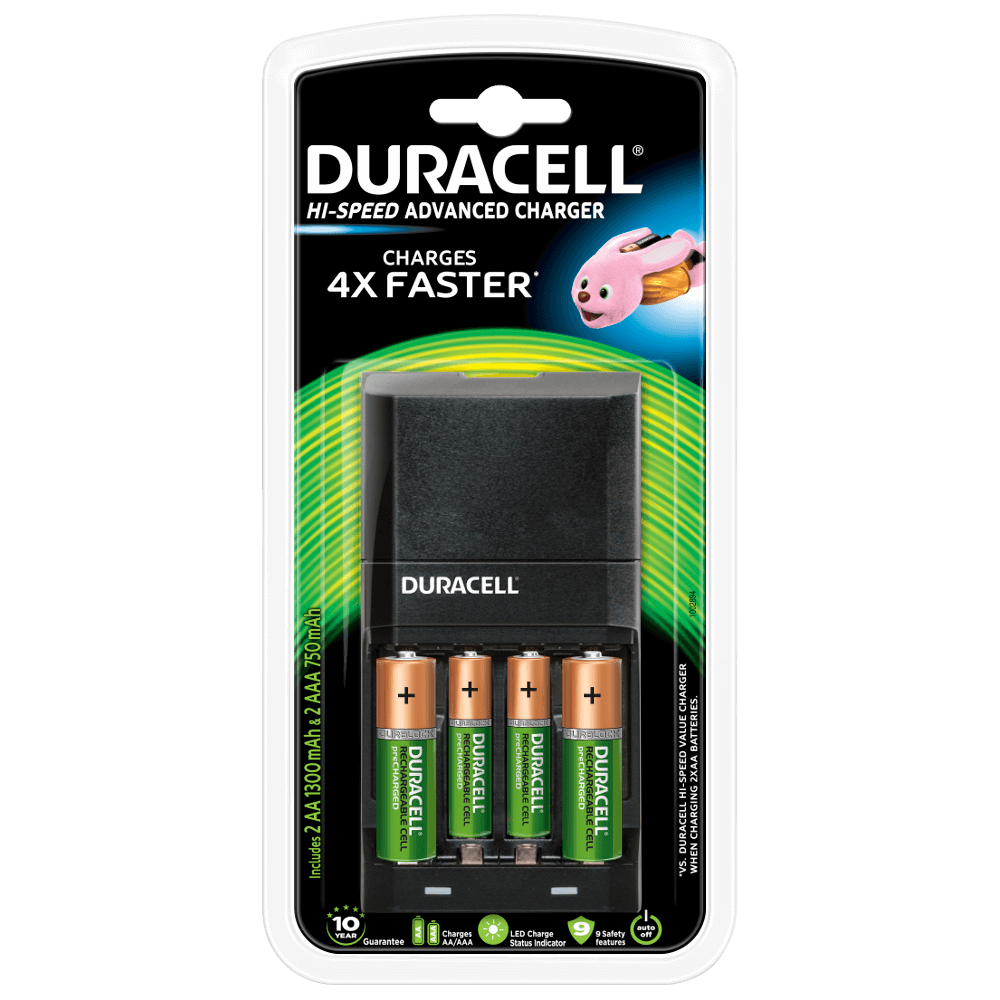 39e88d899b4 Duracell Hi-Speed Advanced Charger for AA & AAA Batteries
