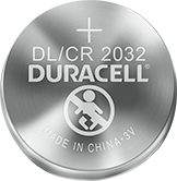 Duracell lithium coin DL/CR 2032 battery