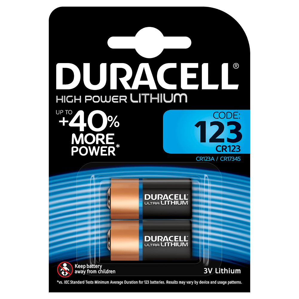Specialty 123 Ultra Lithium batteries - Duracell