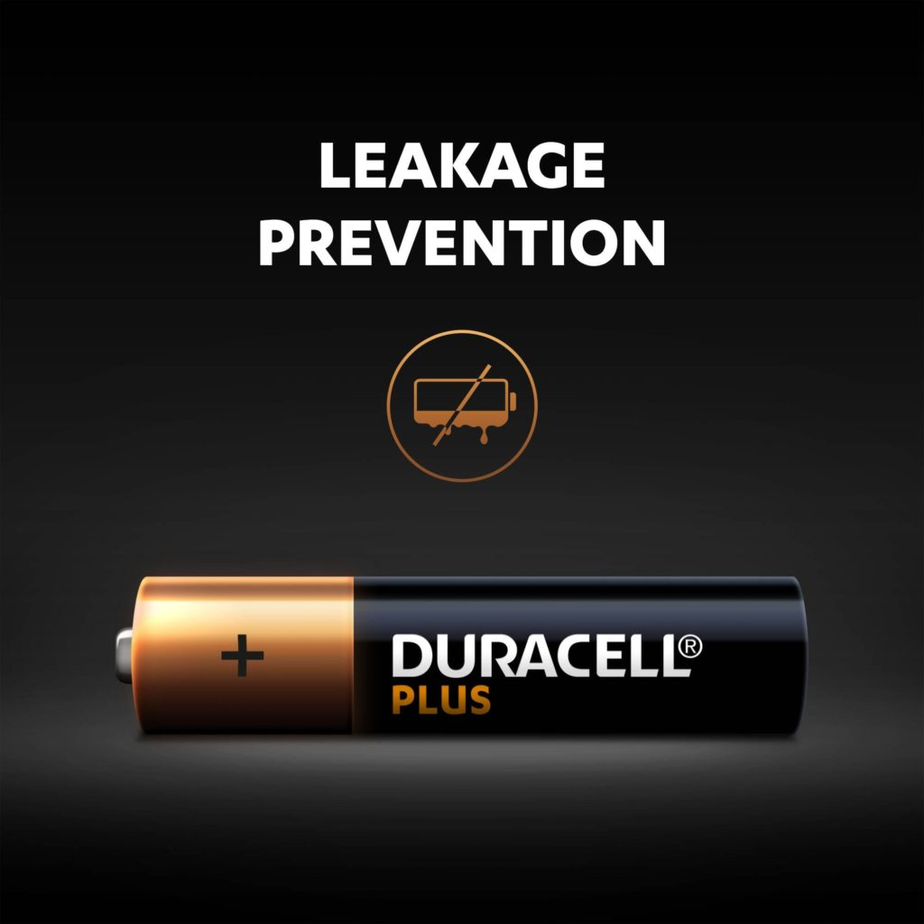 Leakage prevention for Alkaline Plus AAA sized battery