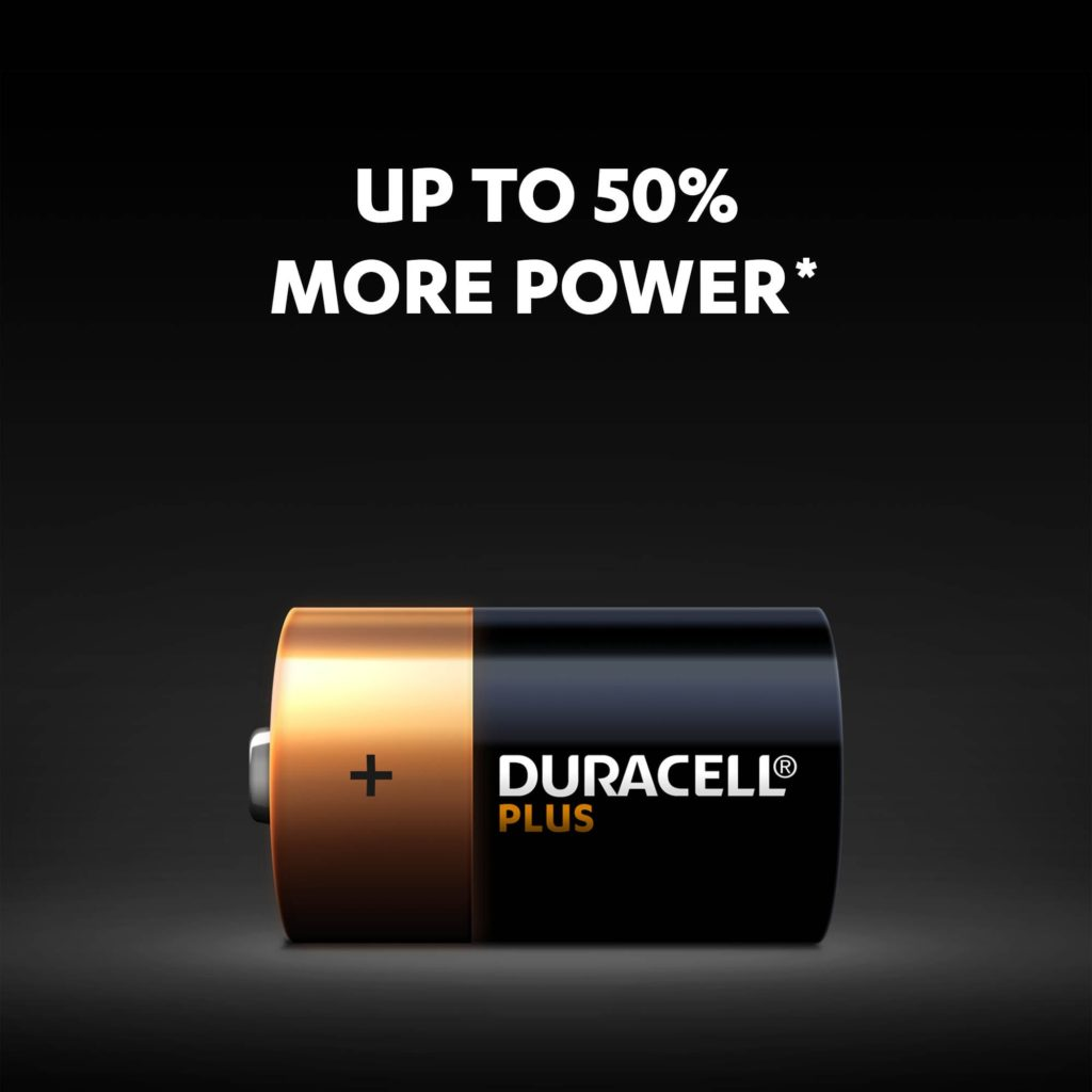 Duracell Ultra battery size D with unique Powercheck technology