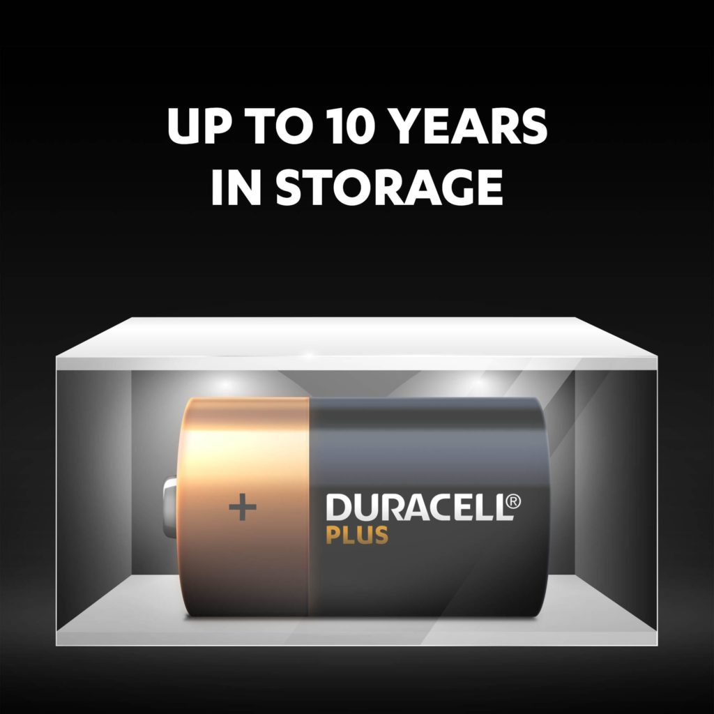 Duracell Ultra batteries fresh and powered for up to 10 years in ambient storage