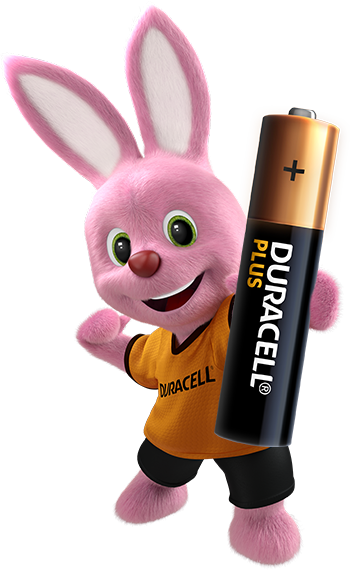 Bunny introducing Alkaline Plus Type AAA-sized battery