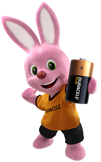 Bunny introducing Alkaline Plus Type C-size battery