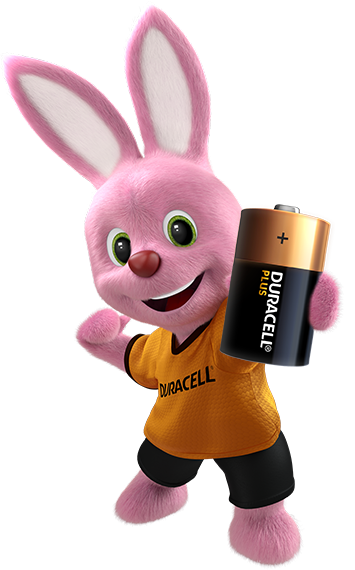 Bunny holding Ultra D-size battery
