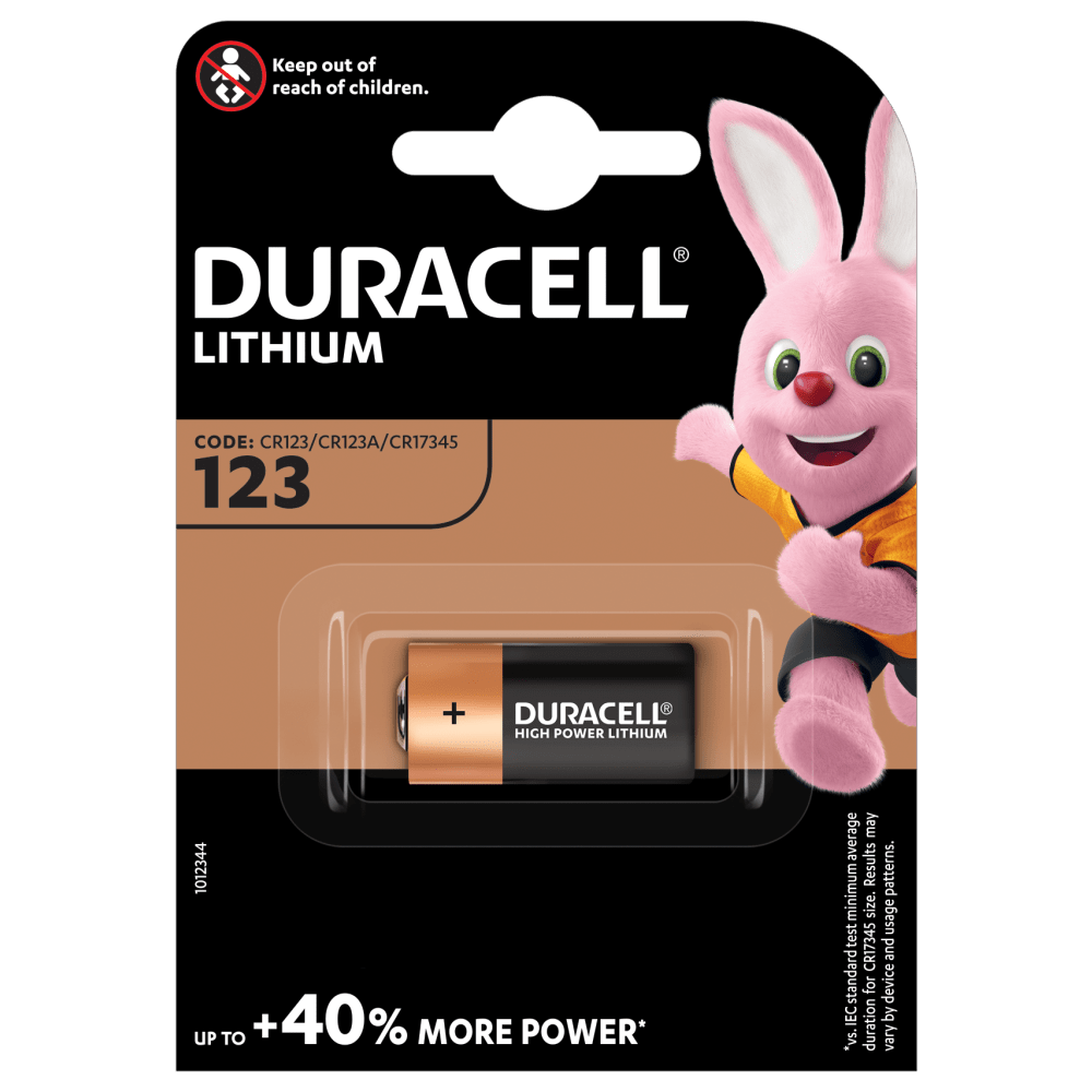 Duracell High Power Lithium 123 Battery 3V 1 packing