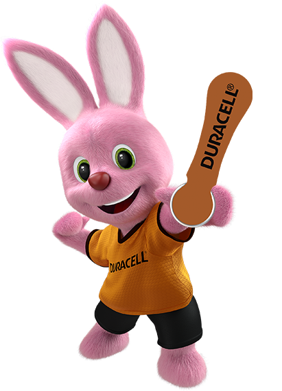 Bunny in action introducing Duracell hearing aid batteries