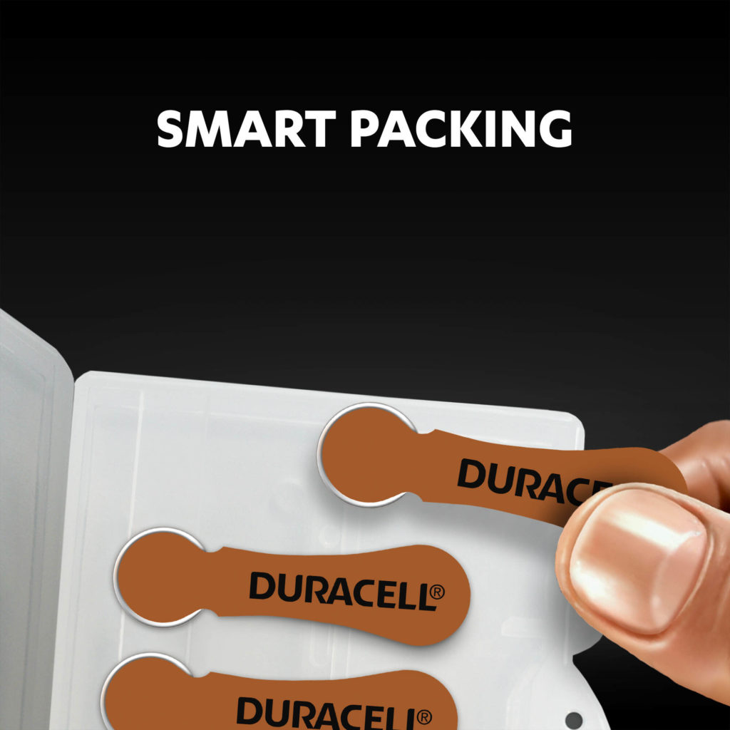 Smart packaging of hearing aids batteries size 312 icon