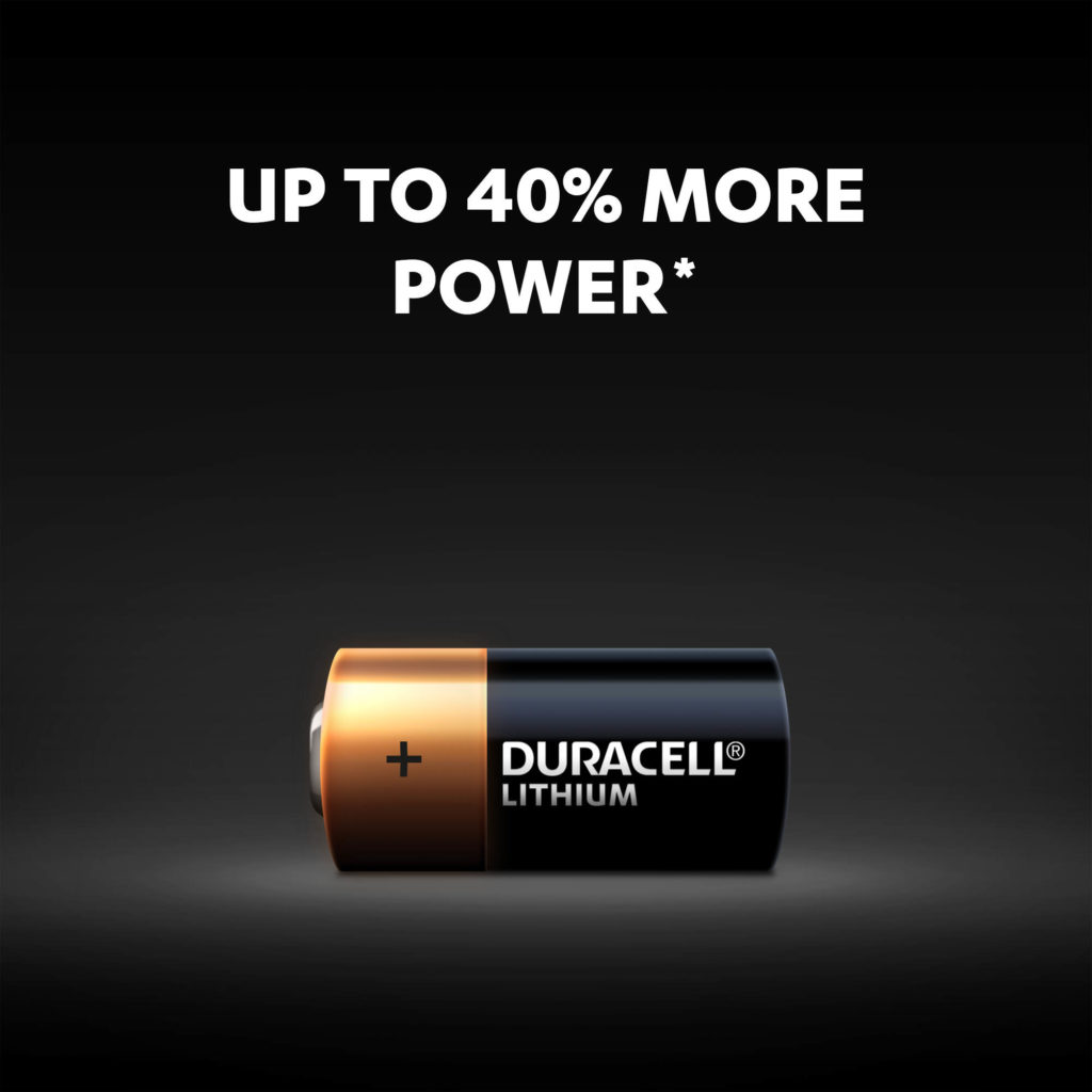 Duracell High Power Lithium 123 batteries - Up to 40% more power