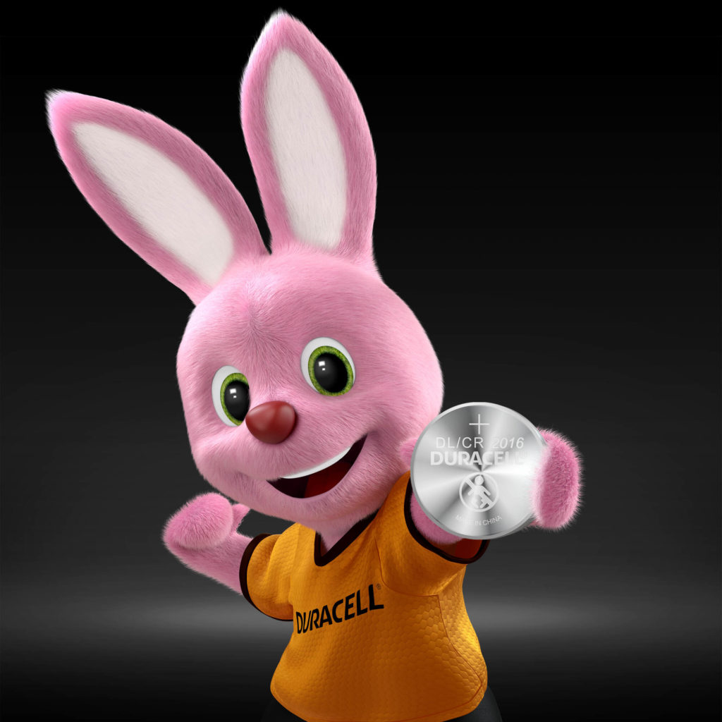 Bunny introducing Duracell Lithium Coin 2016 battery